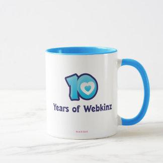 10 años de logotipo de Webkinz