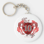 10 auto racing number tigers key chains