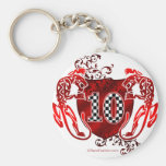 10 auto racing number tigers keychains