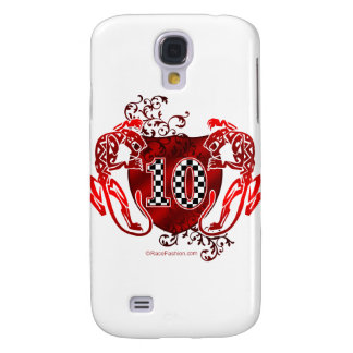 10 auto racing number tigers samsung s4 case