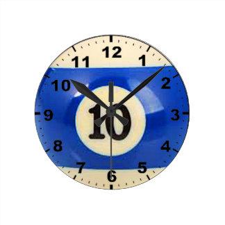 """10 Ball"" design wall clocks"
