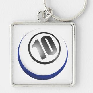 10 Ball Keychains