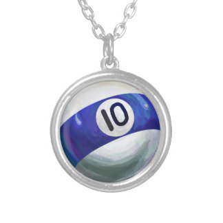 10 Ball Silver Plated Necklace