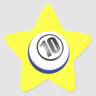 10 Ball Star Sticker