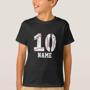 10 Baseball Birthday T Shirt Party