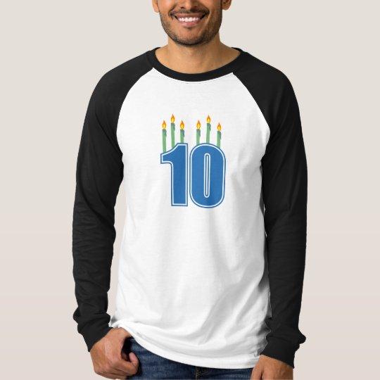 10 Birthday Candles (Blue / Green) T-Shirt