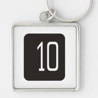 #10 Black Square Key Chains
