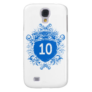 #10 Blue Shield Samsung Galaxy S4 Cover