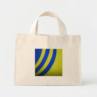 10 bolso abstracto amarillo y azul de la sol bolsa