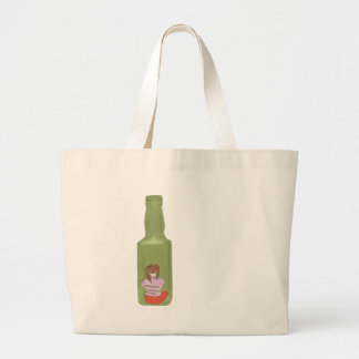 10 botellas verdes 10 bolsa tela grande