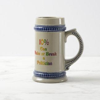 10%  Can Make Or Break 18 Oz Beer Stein