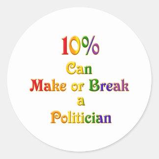 10%  Can Make Or Break Classic Round Sticker
