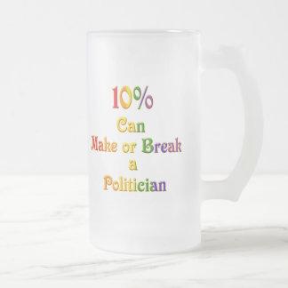 10%  Can Make Or Break 16 Oz Frosted Glass Beer Mug