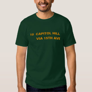 10 CAPITOL HILL -- VÍA la décimo quinta avenida Remera
