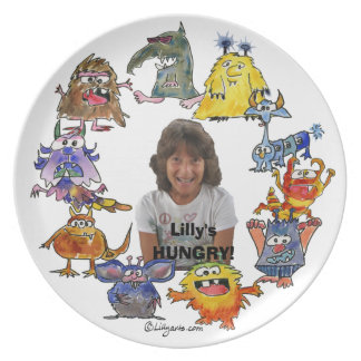 10 Cartoon Monsters Personalized Plate