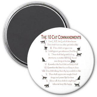 10 CAT Commandments Refrigerator Magnet