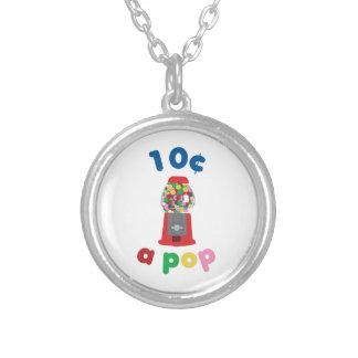 10 Cents A Pop Round Pendant Necklace