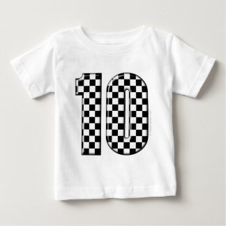 10 checkered auto racing number baby T-Shirt
