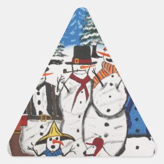 10 Christmas Snowmen Stickers