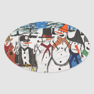 10 Christmas Snowmen Sticker