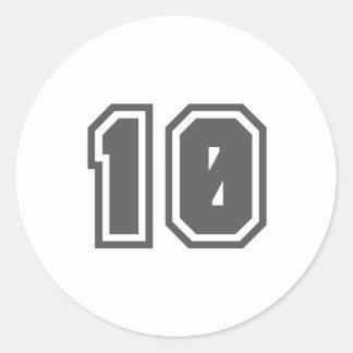 10 CLASSIC ROUND STICKER