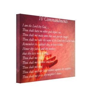 10 Comandments Canvas Print