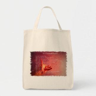 10 Comandments Grocery Tote Bag