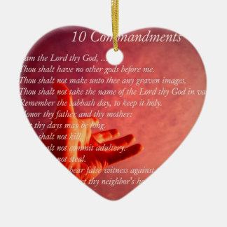 10 Comandments Ornament