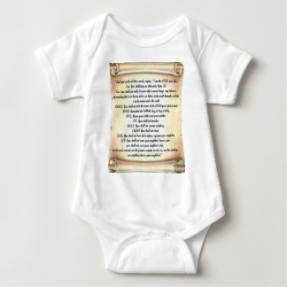 10 commandments baby bodysuit