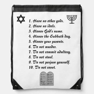 10 COMMANDMENTS BACKPACK JEWISH GRAPHICS BEAUTIFUL