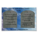 10 Commandments in Clouds Poster