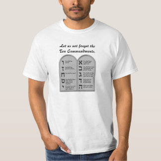 10 COMMANDMENTS LIVE BY G-D'S WORDS BLESSED BE HE T SHIRT
