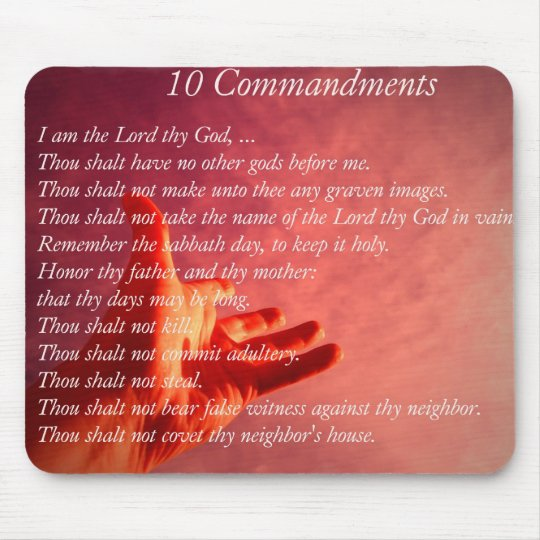 10 Commandments  Mouse Pad