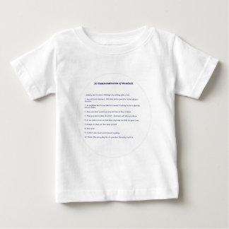 10 Commandments of Baseball! Baby T-Shirt