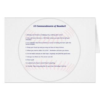10 Commandments of Baseball! Card