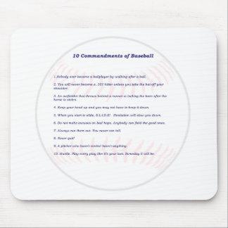10 Commandments of Baseball! Mouse Pads