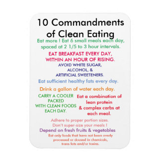 10 Commandments of Clean Eating Magnet
