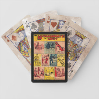 10 Commandments of Gun Safety Bicycle Playing Cards