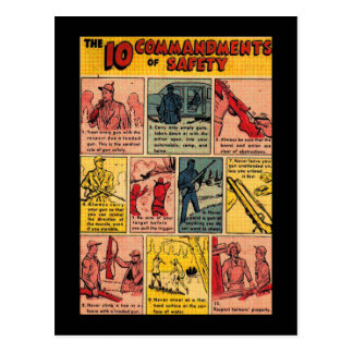 10 Commandments of Gun Safety Postcard