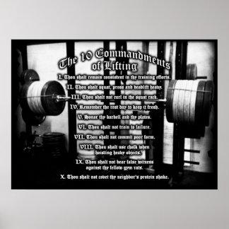 10 Commandments of Lifting Poster