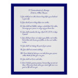 10 Commandments of Marriage Poster