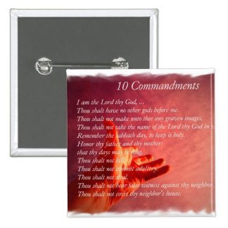 10 Commandments  Pin