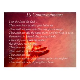 10 Commandments  Postcard