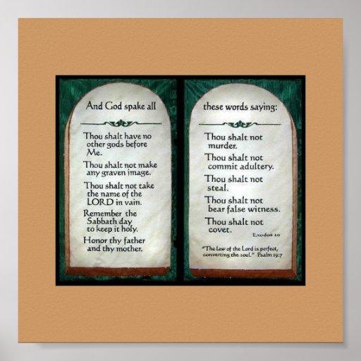 10 Commandments poster