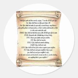 10 commandments sticker