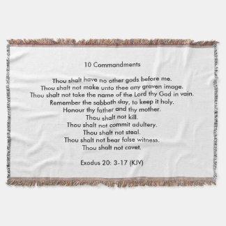10 Commandments Throw Blanket
