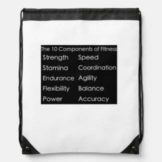 10 componentes de mochila de la aptitud