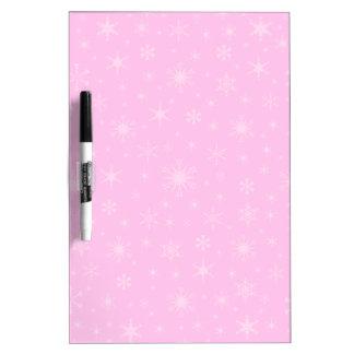 10 copos de nieve - rosas claros en rosa pizarras blancas