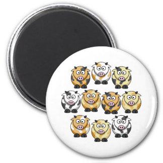 10 Cow Fridge Magnet