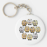10 Cow Small Keychain